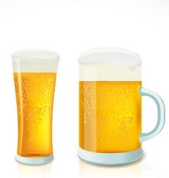 Beer in glass vector image