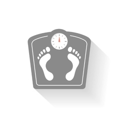 Bathroom scales icons set weight control signs vector