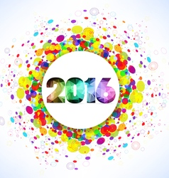 Happy new year 2016 celebration with colorful vector