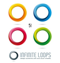 Infinite loop design elements vector