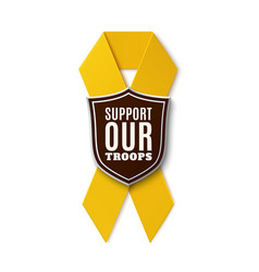 Support our troops vector image