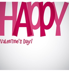Overlay word valentines day card in format vector