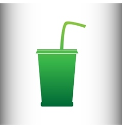 Drink sign green gradient icon vector