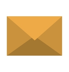 Electronic mail or email isolated flat icon vector