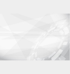abstract grey geometric technology background vector image