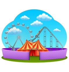 Amusement part concept vector