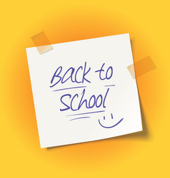 back to school message vector image