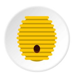 Beehive icon circle vector