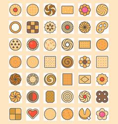 big set of cookies vector image vector image
