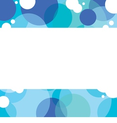 Blue Graphic Background With White Space vector image