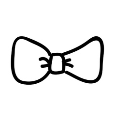 bow tie drawing isolated icon design vector image