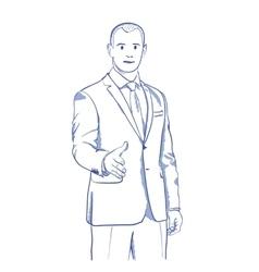 Businessman handshake gesturing vector
