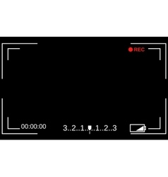 Camera viewfinder Template focusing screen of the vector image