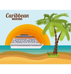 Caribbean cruise design vector