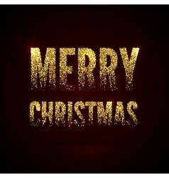 Christmas card gold sparkles on black background vector