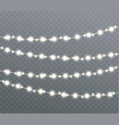 christmas glowing lights vector image