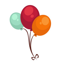 circus air balloons isolated flat icon vector image vector image