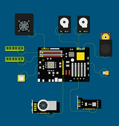 Computer connection scheme vector