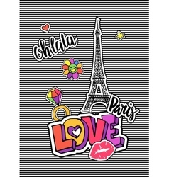 Cute fashion chic t-shirt design background vector image vector image