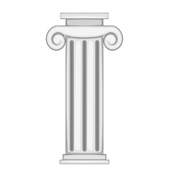 Decorative roman pillar icon vector