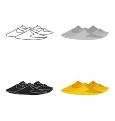 Dunes icon in cartoon style isolated on white vector