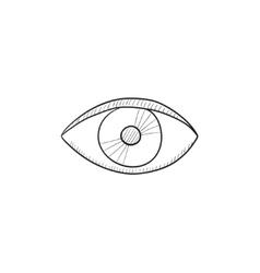 Eye sketch icon vector