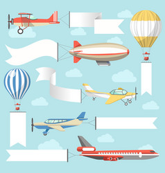 Flying air advertising media vehicles and vector