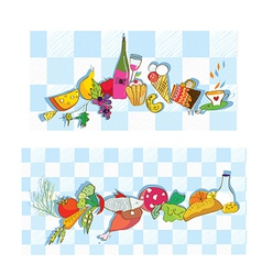 Food banners for restaurant and cafe vector image vector image