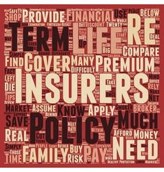 How to control your life insurance premiums text vector