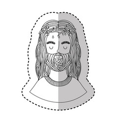 Jesuschrist character religious icon vector