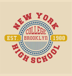 New york college brooklyn vector