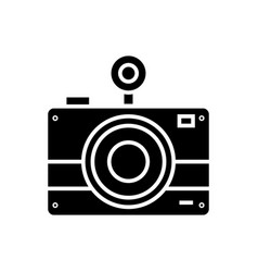 photo camera icon black sign vector image