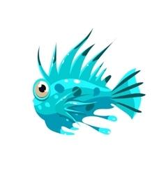 Prickly fish vector