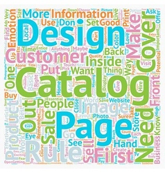 Rules On Good Catalog Design text background vector image