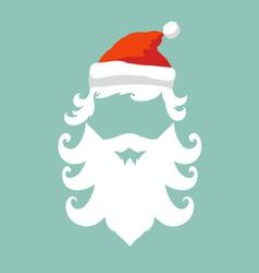 Santa claus hipster fashion style vector