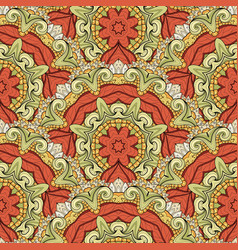 seamless colored ornate pattern vector image vector image