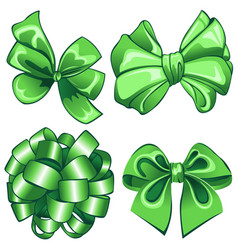 Set with green bows vector