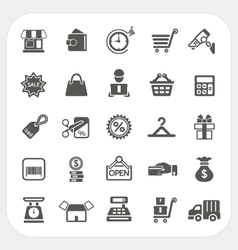 Shopping and finance icons set vector