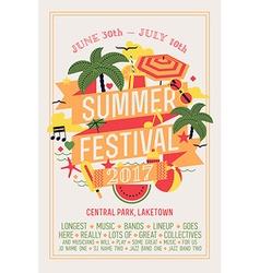 Summer festival poster vector