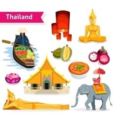 Thailand travel set vector