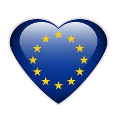 The European Union flag button vector image