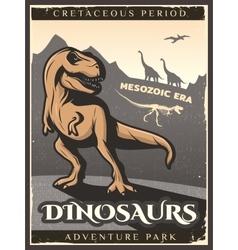 Vintage Dinosaur Poster vector image vector image