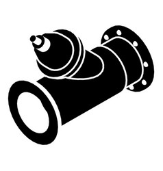 Without tap pipe icon simple black style vector