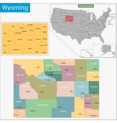 Wyoming map vector