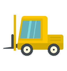 Yellow stacker loader icon isolated vector