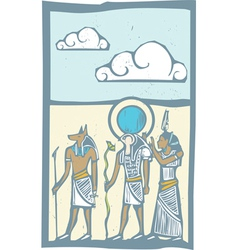 Hieroglyph clouds vector