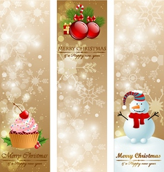 Christmas vintage vertical banners vector