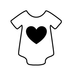 Baby clothes isolated icon vector
