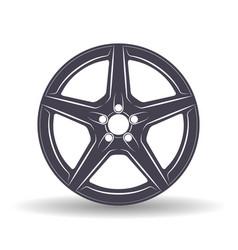 auto disk black vector image