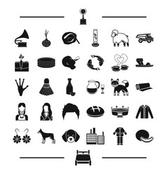 Award architecture and other web icon in black vector